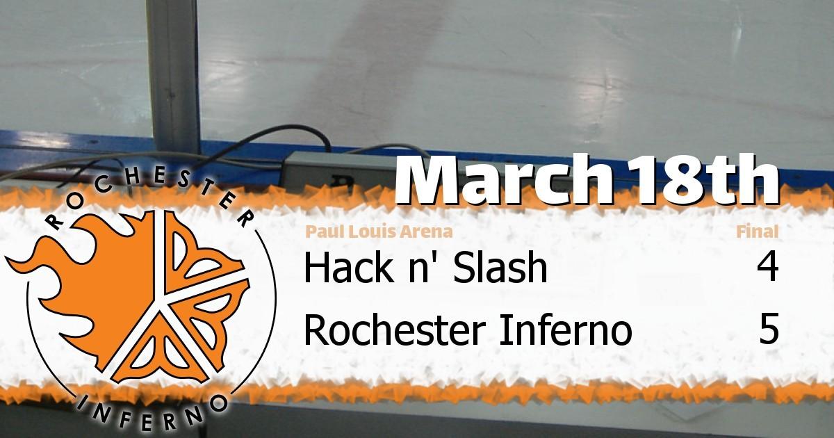 Inferno over Hack n' Slash on Sunday