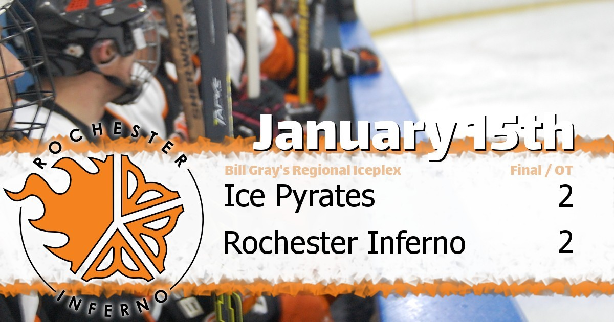 Pyrates and Inferno fight to 2-2 overtime tie - Rochester