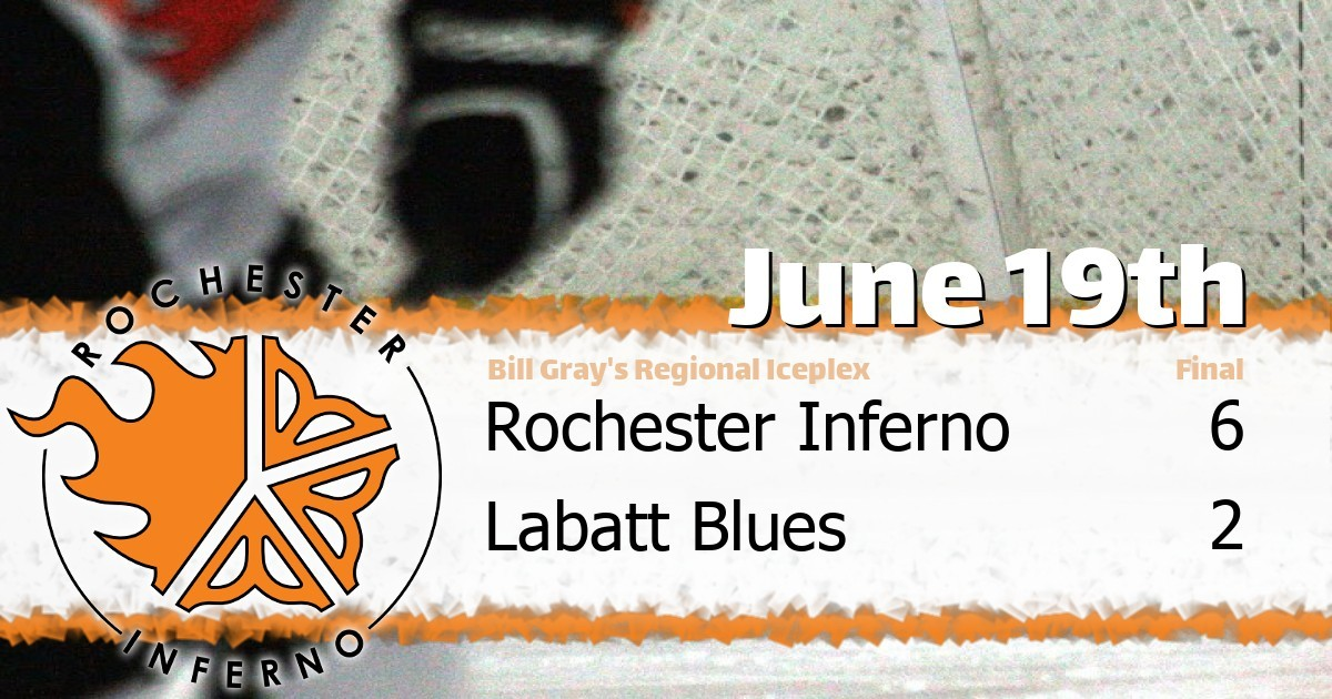 Inferno over Blues in 6-2 victory