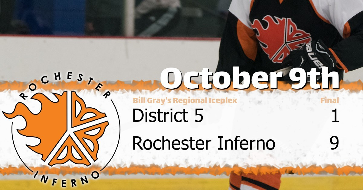 Inferno over District 5 in 9-1 victory