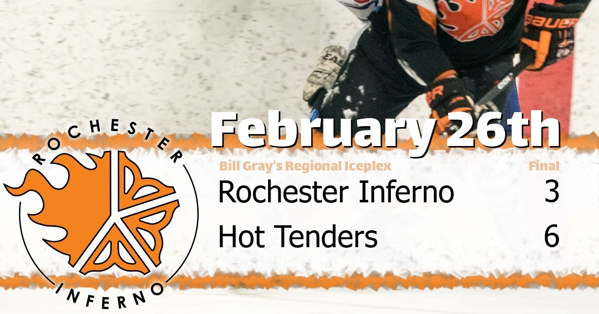 Tenders over Inferno in 6-3 victory