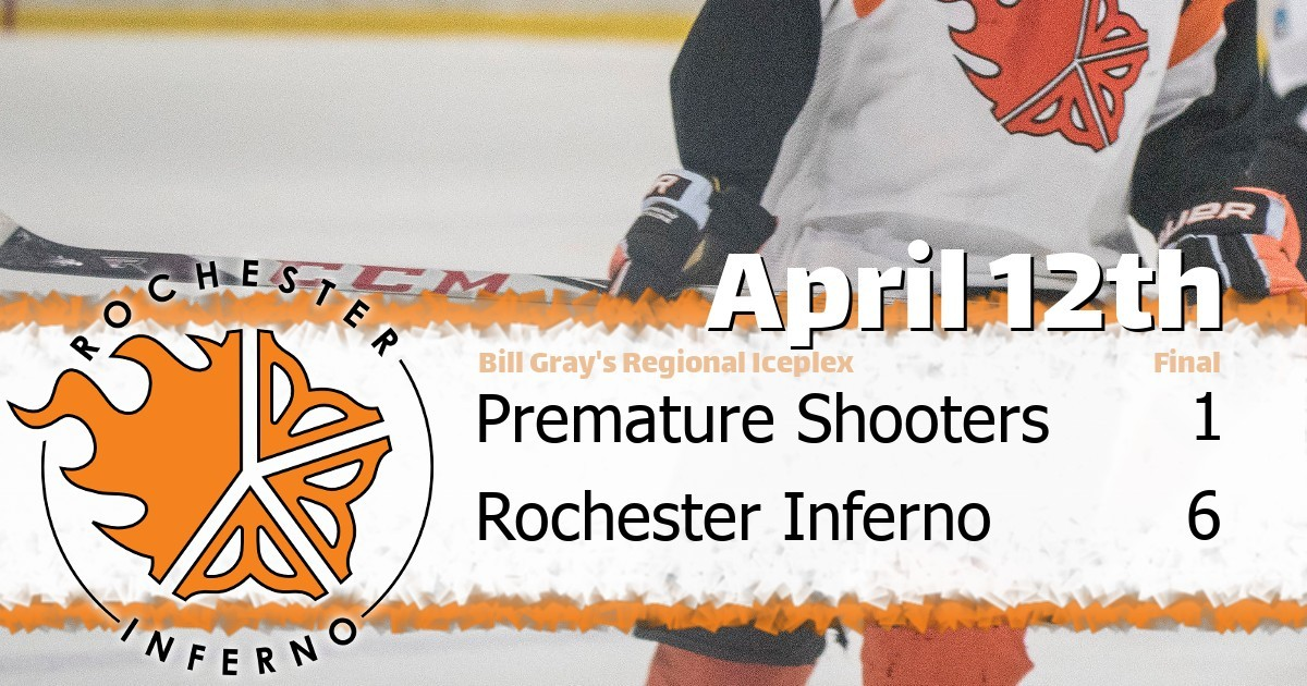 Inferno over Shooters in 6-1 victory